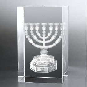Bloc Vertical 3D Menorah