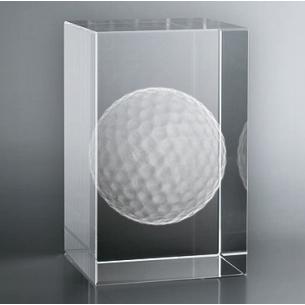 Bloc Vertical 3D Balle de Golf, Réalisez le cadeau personnel qui ré...