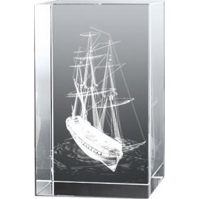 Bloc en verre gravure 3D Glorieux