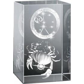Bloc en verre gravure 3D Cancer (Astro)