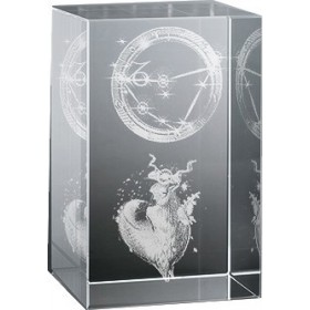 Bloc en verre gravure 3D Capricorne (Astro)