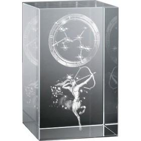 Bloc en verre gravure 3D Sagittaire (Astro)