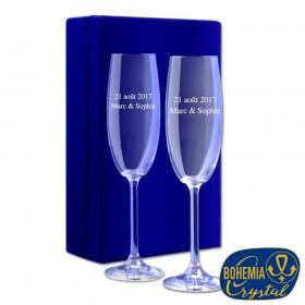 Coffret Flûtes à Champagne Personnalisées avec un texte