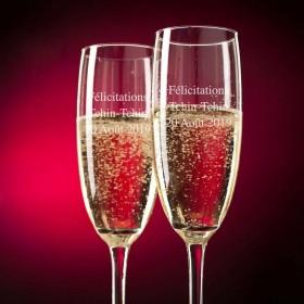 Flûtes à Champagne Personnalisées avec un texte