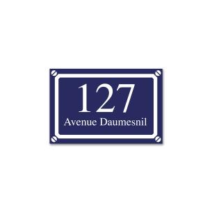 petite plaque de Rue bleue personnalisée
