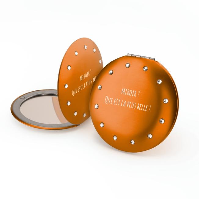 Trouvez l'Idée Cadeau Parfaite – Miroir de Poche Rond 12 Strass