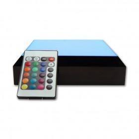 base lumineuse avec télécommande - lumière changeante - bleu