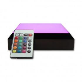 base lumineuse avec télécommande - lumière changeante - rose