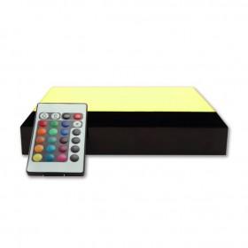 base lumineuse avec télécommande - lumière changeante - jaune