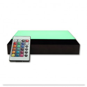 base lumineuse avec télécommande - lumière changeante - vert