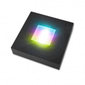socle lumineux pour bloc gravé au laser