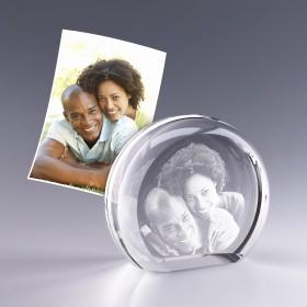 Demi-lune gravée de votre photo en 3D