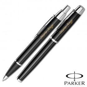 Parure Stylos Parker Noir Personnalisable