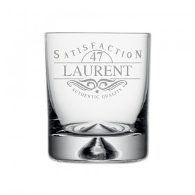"Verre à Whisky, Collection Anniversaire ""Satisfaction"" personnalisable"