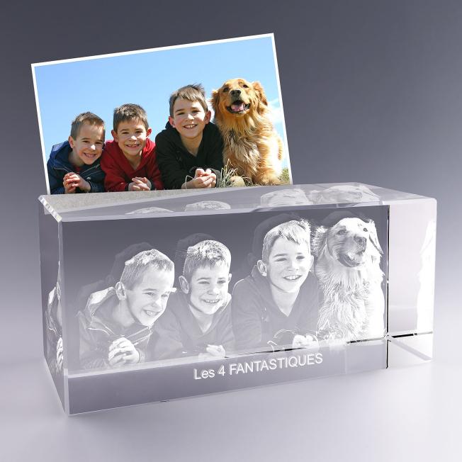 Bloc verre photo 3D - 30 cm