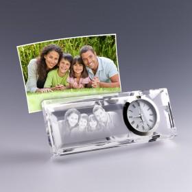 horloge en verre personnalise avec photo et texte