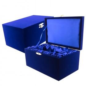 Ecrin Velours bleu nuit pour Bloc verre photo 3D