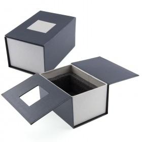 Emballage cadeau Bloc verre photo 3D 12 cm
