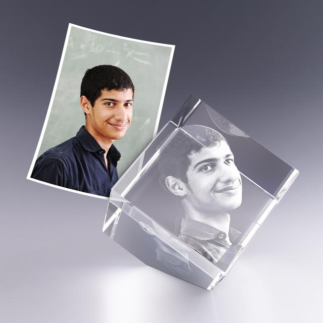 Cube en Verre Pan Coupé 8 cm Gravure 3D pour  Votre gravure photo e...