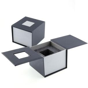 Boite cadeau cube pan coupé 4 cm - Gravure photo 3D