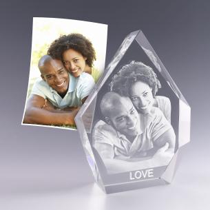Bloc prestige 19 cm - gravure photo 3D