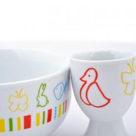 Motifs animaux sur vaisselle enfants