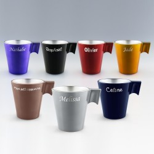 Mug Noir en Verre Effet Métal Personnalisé pour  Ce mug en verre no...