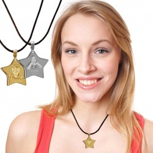 pendentif avec photo disponible en doré et argenté