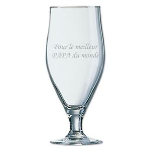 """L'Art de la Table Personnalisé ! - Verre à Bière Personnalisé """"Dédi..."""