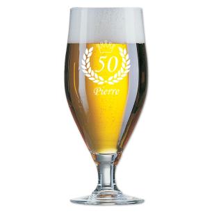 cadeau personnalisé : verre à bière gravé avec prénom de votre choix