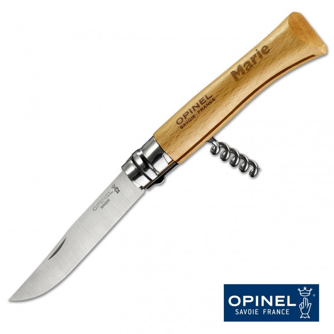 Couteau Tire-Bouchon Opinel N°10 Inox Personnalisable