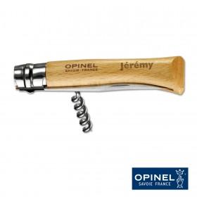 Couteau Tire-Bouchon Opinel N°10 Inox Personnalisable avec votre prénom