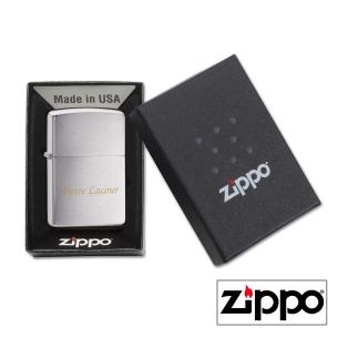 Briquet Zippo Regular Satiné Personnalisable
