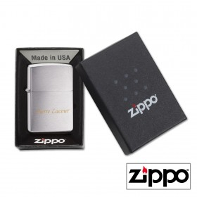 Briquet Zippo Regular Satiné Personnalisable