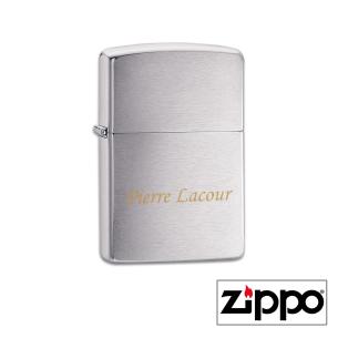 Briquet Zippo Regular Satiné Personnalisable avec un prénom