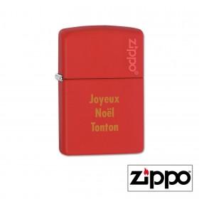 Briquet Zippo Colors Rouge Personnalisable avec votre prénom