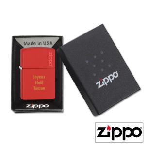Briquet Zippo Colors Rouge Personnalisable