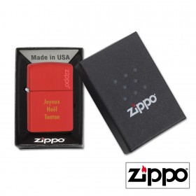 Briquet Zippo Colors Rouge Personnalisable