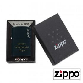 Briquet Zippo Colors Noir Personnalisable avec votre prénom