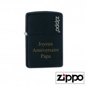Briquet Zippo Colors Noir Personnalisable pour  Zephyr personnalise...