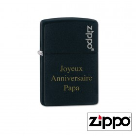 Briquet Zippo Colors Noir Personnalisable