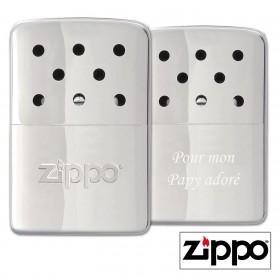 Chauffe-Mains 6H Zippo Personnalisable avec un texte de votre choix