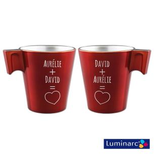 Duo Mugs Rouge Toi & Moi Personnalisé pour  Le cadeau parfait pour ...