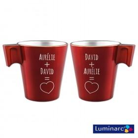 Duo Mugs Rouge Toi & Moi Personnalisé