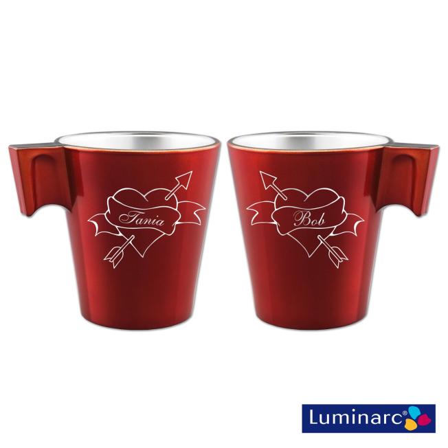 Duo Mugs Rouge Tatou Personnalisé