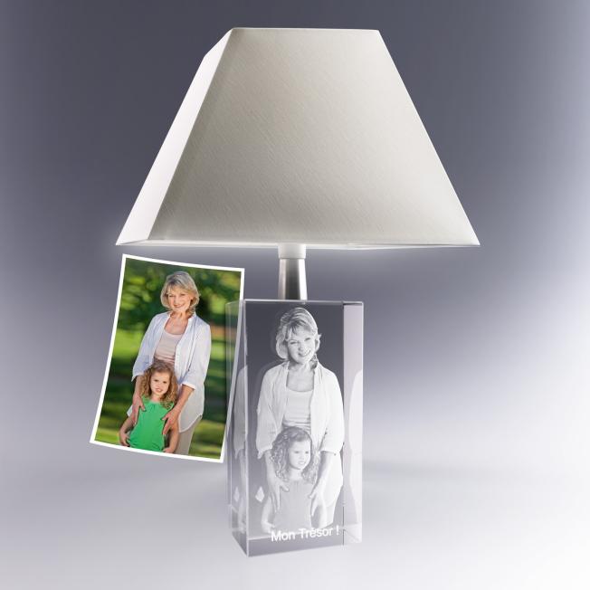 lampe cadeau décoration avec photo gravée en 3D