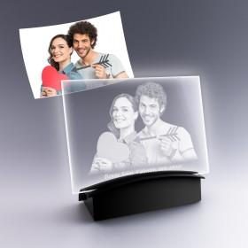 cadeau plaque photo en verre