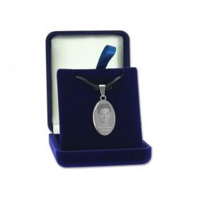 Pendentif ovale avec photo - boite cadeau