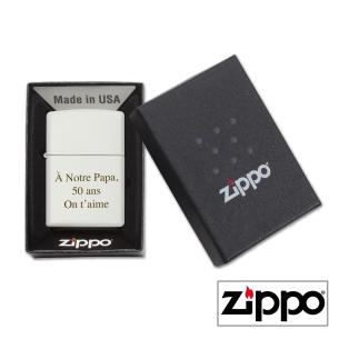 Boîte cadeau Briquet Zippo Colors Blanc Personnalisable