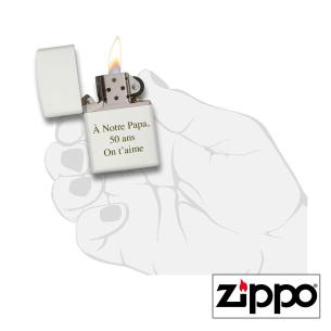 Briquet Zippo Colors Blanc